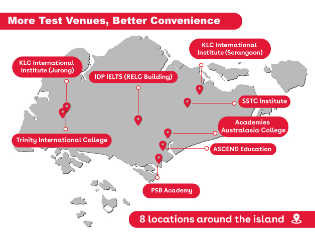 IDP IELTS Test Venue Location Map